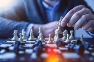 Jogo de xadrez. Xeque mate. Fazer justiça.